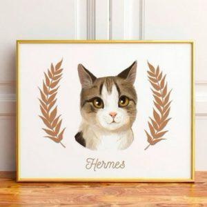 portrait animaux - idées cadeaux fête des mères