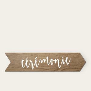 Panneau en bois cérémonie