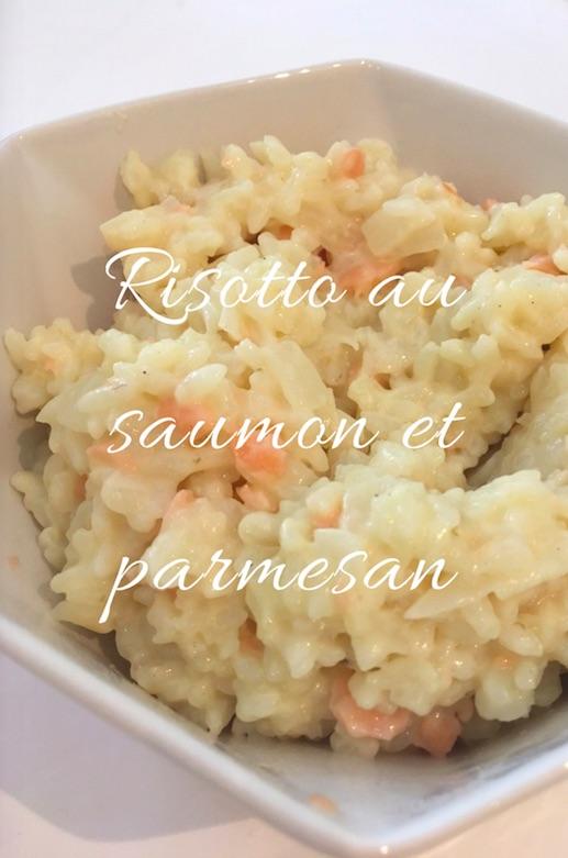 risotto au saumon et parmesan