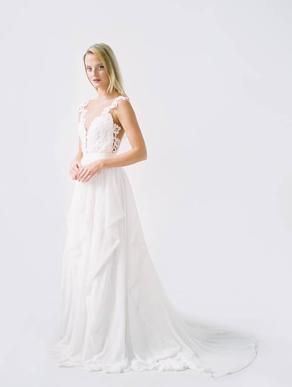 Robe de mariée détails buste