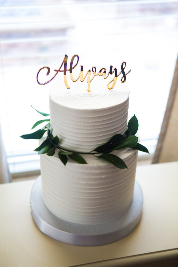 Topper cake calligraphie