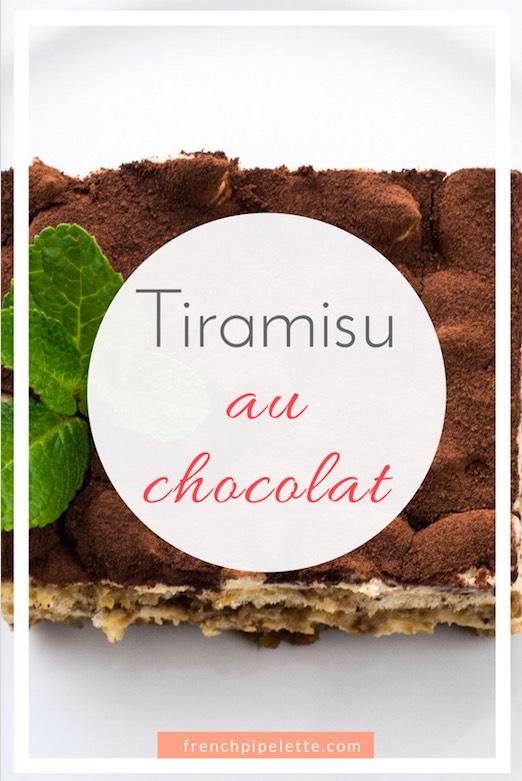 Recette tiramisu au chocolat - Pinterest