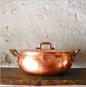 casserole en cuivre - Idées cadeaux de Noël à petits prix