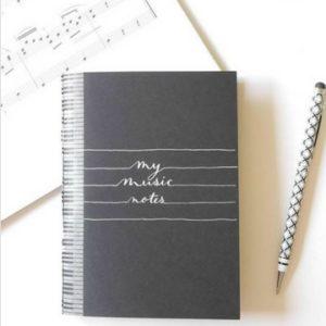 Carnet à musique - idées cadeaux saint valentin