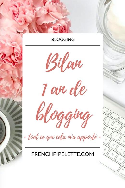 Bilan 1 an de blogging
