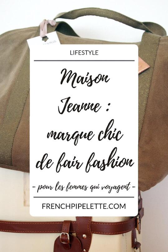 marque de fair fashion Maison Jeanne